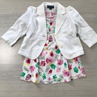 入園式などに☆セットで半額以下 可愛いワンピースと白ジャケット