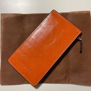 (取引き中)薄型カードケース兼財布 オレンジ