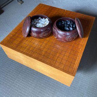 中古 囲碁盤 足つき 碁石 セット