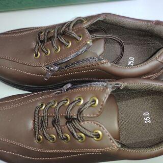 靴(ブラウン:25cm):未使用