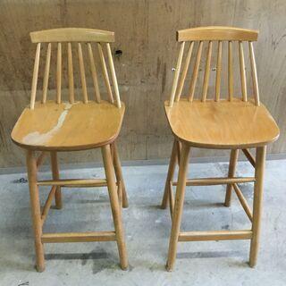 カウンター 椅子 木製 ダイニングチェア 2脚セット 椅子 食卓...