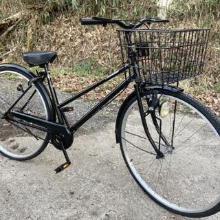 (*^▽^)/★一文字自転車★ブラック★27インチ★♪