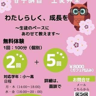 春季講習開催〜 無料体験授業あり〜