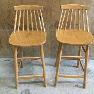 木製 ダイニングチェア 2脚セット 椅子 食卓 店舗用 カウンタ...
