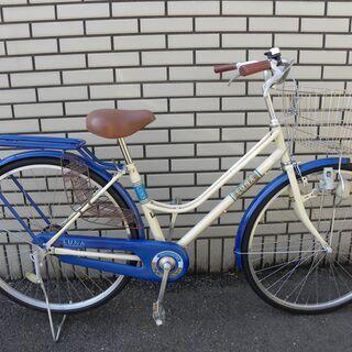 【シティサイクル】LUNA 27インチ  ブルー/クリーム