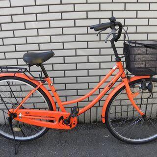 【シティサイクル】 NA2  ナナ 26インチ オレンジ ママチャリ