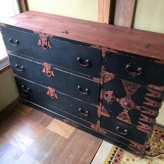 アンティーク 角手金具 100年モノ 小箪笥 明治時代⁉︎ 中古