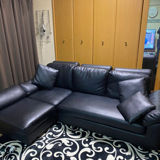 決まりました  3人掛けL型大型ソファー美品