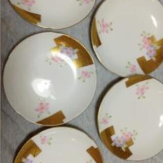 桜の小皿五枚
