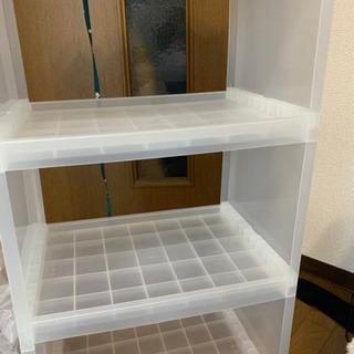 BOX/収納ラック/収納棚/三段BOXの画像