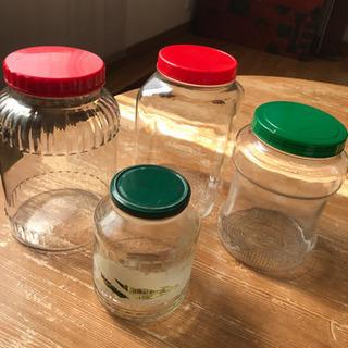 【ネット決済】ガラス瓶 大小 4個
