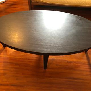 オシャレな楕円形センターテーブル