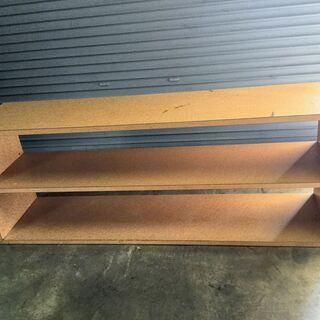 直接引き取りOK 木製 収納棚 本棚 横 台 ボード ナチュラル...