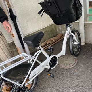 【ネット決済・配送可】子ども乗せ自転車 前のみ 未使用