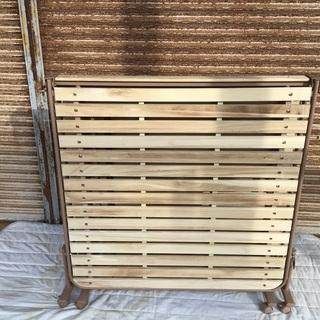 木製折りたたみベッド 桐製スノコベッド