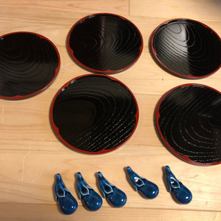 【レトロ】寿司桶とお皿のセット - 京都市