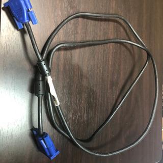 ディスプレイケーブル D-sub15ピン VGA-VGA  ブラック