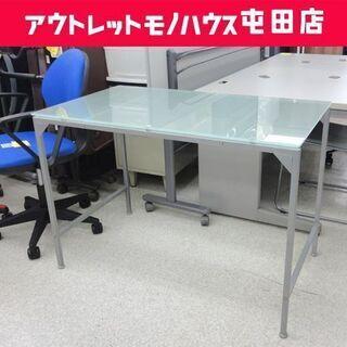 デスク ガラス天板 幅105cm PCデスク 机 ☆ PayPa...