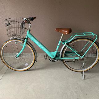 【ネット決済】エメラルドグリーン 自転車