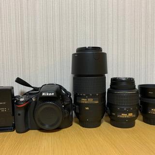 【値下げ】Nikonデジタル一眼レフカメラD5100+レンズ3本セット