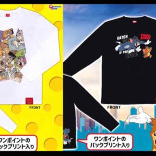 【新品】ロングTシャツ 長袖フリーサイズ/トムとジェリー