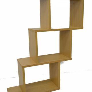変形シェルフ フリーラック 棚 飾り棚 W59.5×H107....