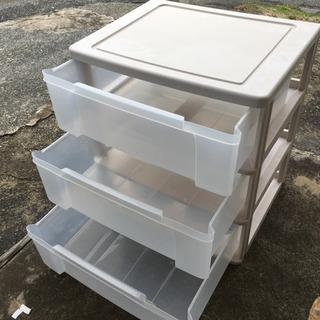 収納3段クリアケース W63 押入れ収納 BOX収納 押入れ収納