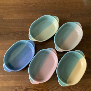 グラタン皿 5枚セット 中古