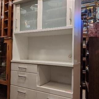 ニトリ NITORI 食器棚 レンジボード カップボード キッチ...