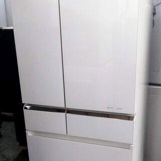 冷蔵庫 6ドア 608L パナソニック フルフラットガラスドア