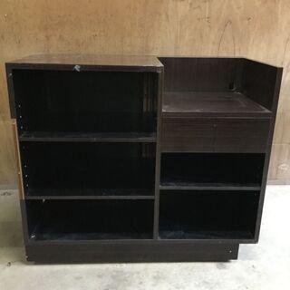 レジ台 店舗用 木製 引き出し 収納 カウンター テーブル 机 ...