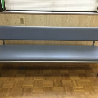 長椅子 幅180cm 水色 待合室 事務所 病院 チェアー ベン...