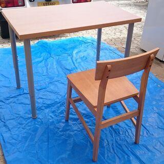 【中古】ニトリ テーブル+椅子 セット