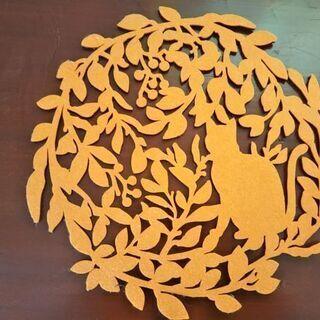 猫の鍋敷き 壁飾り