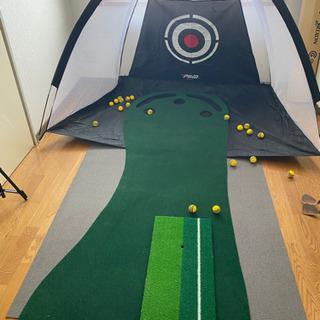 ゴルフの室内練習セット