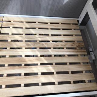 (お譲り先決まりました)シングルベッド 木製 ホワイト