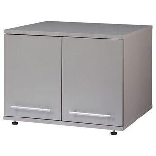 【未使用】ファミリーライフ 冷蔵庫上収納庫 シルバーグレー…