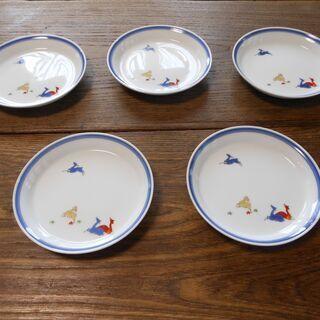 香蘭社 丸皿 5枚セットの画像