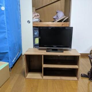 液晶テレビとテレビラックセット