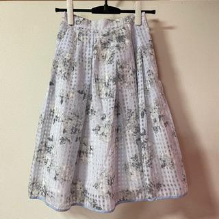 MERCURYDUO♡シアーチェックフラワースカート