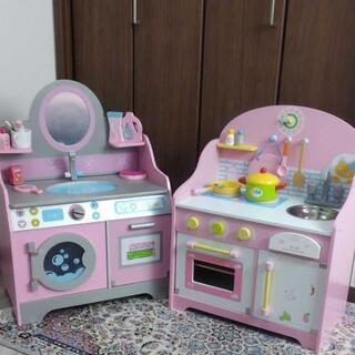 【ネット決済】木製キッチン・洗面台セット