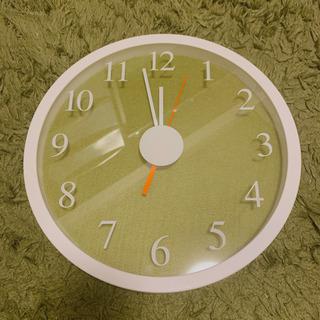 Francfranc グリーン ホワイト 壁掛け時計 スムース針...
