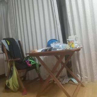【平日引取希望】ガーデン テーブル セット 折りたたみ 3点セット
