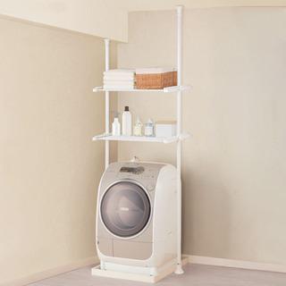 【ネット決済】ニトリつっぱり洗濯機ラック ソルヴィ (IMPV)