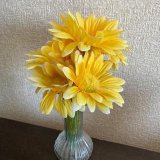 インテリア お花と花瓶セット