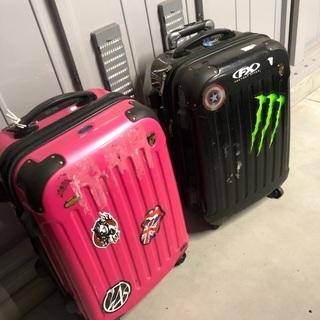 ジャンク品☆ファンキーなスーツケース
