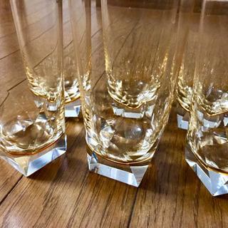 全6個 オールドノリタケ 琥珀 グラス
