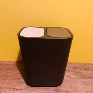 分別ゴミ箱 ブラウン シンプル