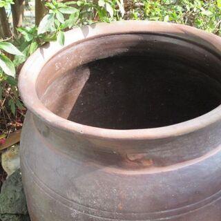水甕 水瓶 古い備前焼 店飾り
