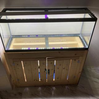 900ワイドガラス水槽 LEDライト 手作り水槽台セット